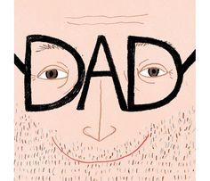 Round up Fathers day cards on HappyMakersBlog.com - Illustration: jasmine hortop