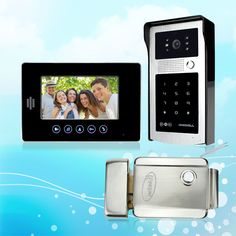 Brand New 7 inch Color Video Intercom Door Phone System Kit With Outdoor RFID Acces Door Camera+1 Monitor+Electric Control Lock #Affiliate