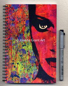 MOD Inspirational Mixed Media Art Journal Notebook by JoannaGrantArt on Etsy Notebook Paper, Journal Notebook, Journals, Gelli Arts, Plate Art, Mixed Media Collage, Altered Art, Artsy Fartsy, Original Art