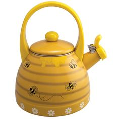 Honeycomb Bee Hive Whistling Tea Kettle