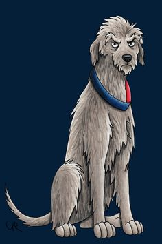 Artist Draws Doctor Who Perfectly As Doctors Dog Breeds | The Mary Sue  12th Doctor as Irish Wolfhound