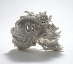 Katsuyo Aoki's porcelain skulls