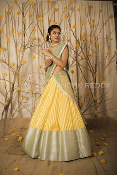 Half Saree Lehenga, Lehenga Gown, Lehnga Dress, Lehenga Style, Sarees, Half Saree Designs, Fancy Blouse Designs, Lehenga Designs, Indian Skirt
