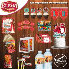 Kit Imprimible Princesa Elena de Avalor Personalizado