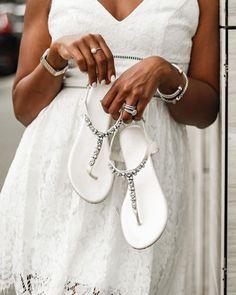 18 Wedding Sandals You'll Want To Wear Again ❤ wedding sandals crystal white comfortable stones davidsbridal #weddingforward #wedding #bride Wedding Shoes, Wedding Bride, Summer Beach, Wedding Decorations, Sandals, Crystals, Stones, Sneakers, How To Wear