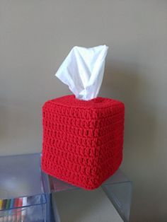 FREE Crochet Pattern - Square Tissue Box Cover Crochet Pattern - 3 designs