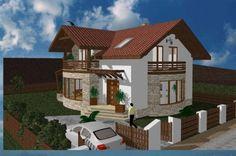 PROIECT CASA TIGUAN Home Fashion, Tiny House, Gazebo, Outdoor Structures, House Styles, Home Decor, Houses, Homemade Home Decor, Kiosk