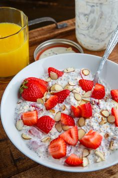 Strawberries and Cream Overnight Oatmeal