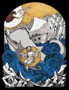 Mina Anton - Jonah in the Whale on Behance