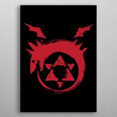 I am a Homunculus Anime & Manga Poster Print Wall Art Prints, Poster Prints, Canvas Prints, Posters, Homunculus, Alphonse Elric, Fullmetal Alchemist, Print Artist, Cool Artwork