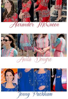 DAY ONE INDIA & BHUTAN - The Duchess of Cambridge's royal tour looks.