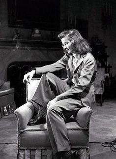 katherine hepburn - the ladies in menswear pioneer