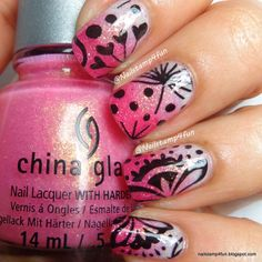 Nail Art - Tutorial, Gradent / Ombre, Stamp Pueen 51, Polish: China Glaze Sand Dolla Make You Holla, On A Starfish, Shell We Dance?