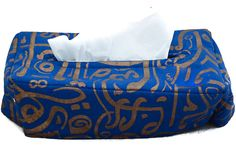Blue Calligraphy Tissue Box by Bedaya. Now available at TheGiftery.com! For more information call 01221103868 (Sunday- Thursday 9:30 am to 5:30 pm) Ramadan 2016, Ramadan Gifts, Tissue Boxes, Thursday, Bean Bag Chair, Sunday, Calligraphy, Blue, Home Decor