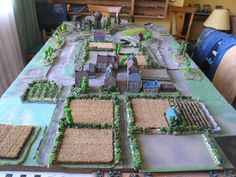 France at 1944 - Flamesofwar Game Terrain, 40k Terrain, Wargaming Table, World War Two, Battle, Table Decorations, Tables, Action, France
