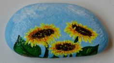 Sunflowers+-+Rock+Painting+by+Annamoon77.deviantart.com+on+@deviantART