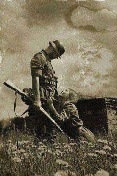 A young German soldier heading off to war.