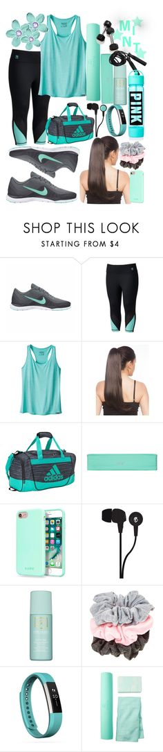 """""""Mint Workout Style"""" by fashionwithdawn ❤ liked on Polyvore featuring NIKE, Fila, Patagonia, adidas, Victoria's Secret, Laut, Skullcandy, Estée Lauder, Essie and Fitbit"""
