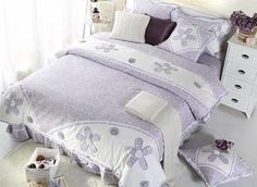 High Quality Cozy Hand-Appliqued 4-Piece Cotton Duvet Cover Sets #bedding #bedroom
