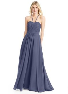 AZAZIE FELICITY. Felicity is a chiffon floor-length dress in an A-line cut. #Bridesmaid #Wedding #CustomDresses #AZAZIE
