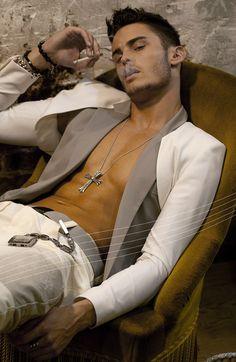 Baptiste Giabiconi - Bolero suit for men? Interesting....