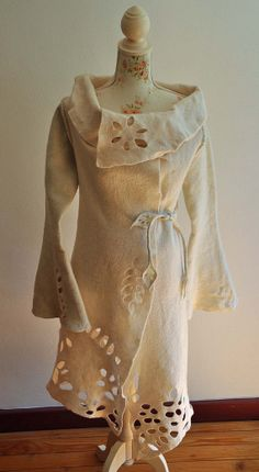 Hey, I found this really awesome Etsy listing at http://www.etsy.com/listing/157442284/wonderful-felted-white-coat