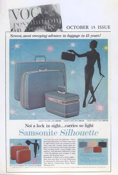 The original Samsonite Silhouette was featured in Vogue in 1958.