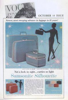 The original Samsonite Silhouette was featured in Vogue in 1958.