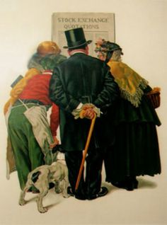 Stock Exchange 1977 by Norman Rockwell - Limited Edition Print | Lithograph | 26 x 19 inches | 66 x 48 cm