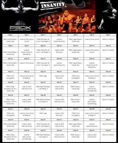 best workout for weight lose or insanity P90x Workout Sheets, Insanity Workout Schedule, Workout Routines, Beast Workout, Mommy Workout, Insanity Workout Free, Workout Calender, Shoulder And Arm Workout, Cardio Abs