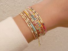 Miyuki beads bracelet morse code customizable V2 'Light
