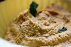 Butternut squash hummus with Black Garlic. Find the full recipe at Saffron & Honey http://saffronandhoney.com/2013/02/21/butternut-squash-hummus/