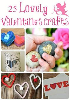 """""""More lovely Valentine's Crafts! Fabulous."""" Good heart shaped crafts for shape theme"""