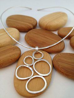 Stones Sterling Silver Choker Pendant by EG Speiser