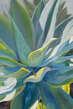 Blue Agave x Cactus Painting, Plant Painting, Fruit Painting, Cactus Art, Plant Art, Painting Inspiration, Art Inspo, Kunst Inspo, Tropical Art