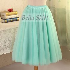 Mint green adult tutu,  adult tulle skirt