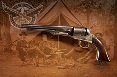 COLT 1860 ARMY MODEL PERCUSSION REVOLVER:  This revolver was used by John Mosby's forces in one of the many raids on Fairfax, Virginia.