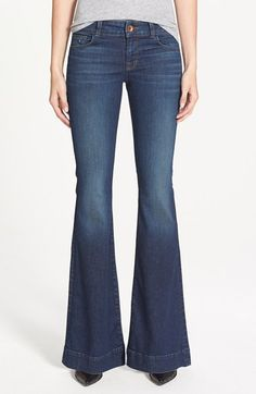 J Brand 'Love Story' Flare Jeans (Trouble) (Nordstrom Exclusive) available at #Nordstrom