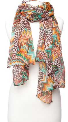 Geo Print Scarf--I just think I could maybe wear this scarf (-: