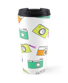 Retro Camera by Linecircle Co #retro #travel #mug #camera #pattern #redbubble #linecircle #LinecircleStationary