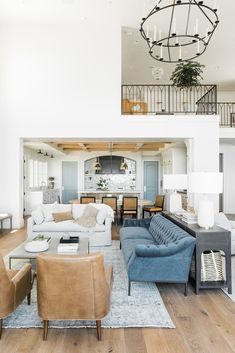 Outrageous Open Concept Kitchen Living Room Layout Tips 00028 - homeknicknack Coastal Living Rooms, Living Room Interior, Home And Living, Living Room Decor, Small Living, Modern Living, Barn Living, Cottage Living, Country Living