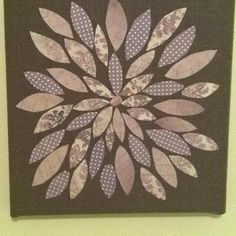Fabric covered canvas and scrapbook paper