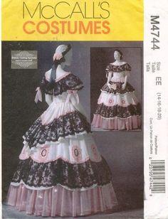McCall's Misses' Civil War Costume Pattern M4744 Size 14 20 | eBay