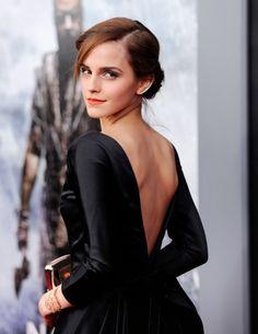 Emma Watson wears diamond ear climbers