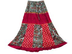 Maxi Skirt Red Multi Color Patchwork Crinkled Long Skirts for Women Mogul Interior,http://www.amazon.com/dp/B00IS1H0XS/ref=cm_sw_r_pi_dp_M-fgtb1KDWK9TH9M