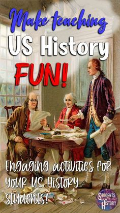 An overview of 5 teaching strategies/resources you can use as the backbone of your US History curriculum or to mix things up so that each unit has a new feel.