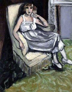 "bofransson: ""A Woman Seated in an Armchair Henri Matisse - 1917 """