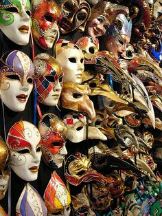 I have 2 Venetian masks, no idea what I will ever do with them, but they are sweeeet.