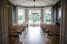 Midnight Blue And Ivory At A Mansion Wedding In Surrey Inspiration Www