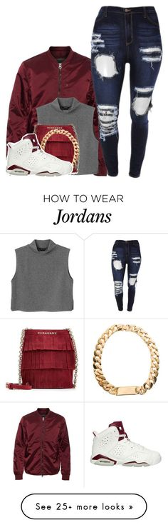 """SORRY NOT SORRY"" by alexanderbianca on Polyvore featuring Acne Studios, Monki, Burberry and NIKE"